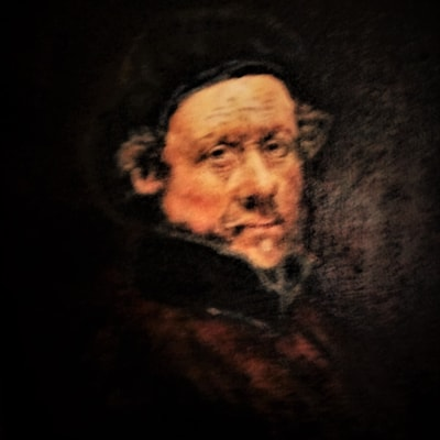 copy of self portrait by Rembrandt