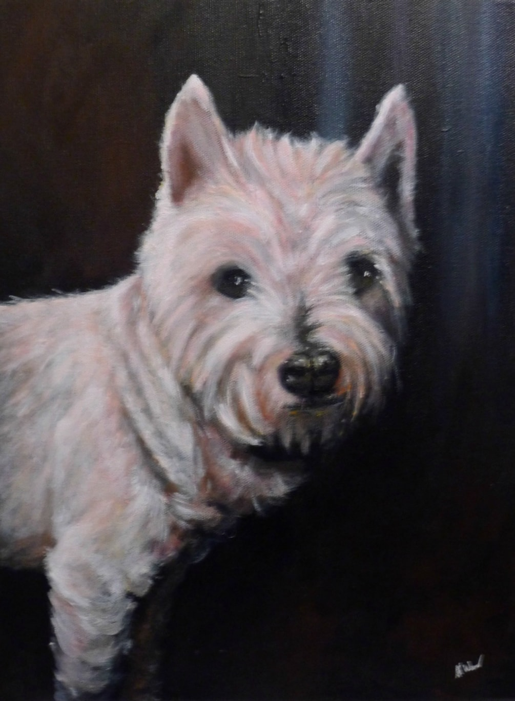 Frankie - Acrylic on Canvas - Commissioned Portrait