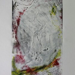 Monoprint - oil