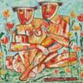 Adam and Eve oil painting Bogomolnik
