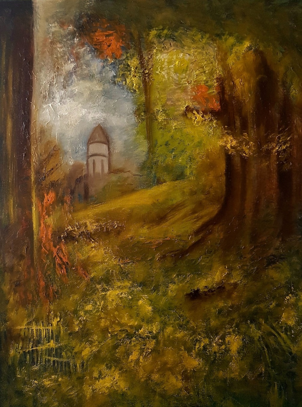 Chapel through the forest