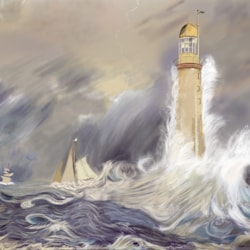 Reproduction of Bellrock Lighthouse