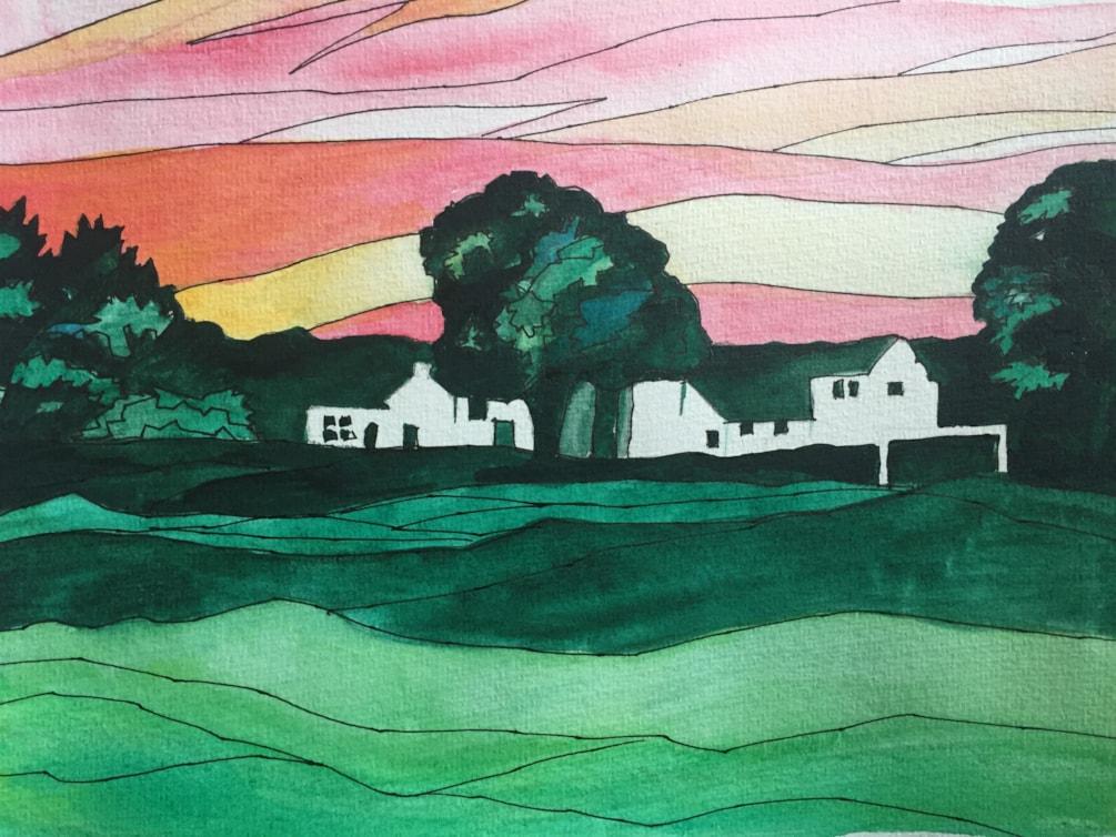 Langwathby village green, Eden Valley, East Cumbria