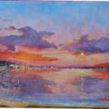 Bembridge Harbour Sunset