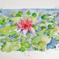 Water Lily (SAA 'Our Photo, Your Painting' Challenge)