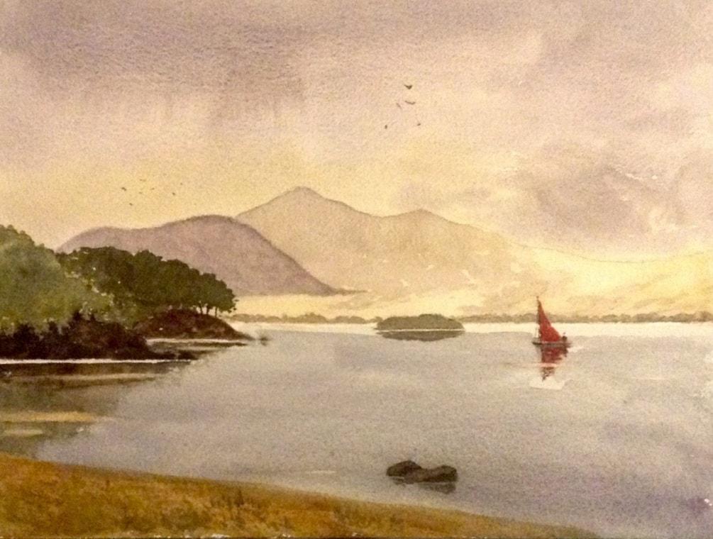 Skiddaw and Derwentwater, after David Bellamy.