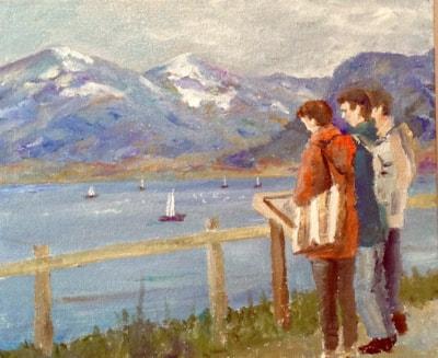View across lake Thun.