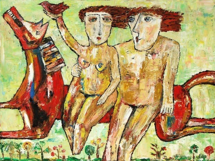 Pure love oil painting Bogomolnik