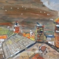 Staithes - roof tops from a window.