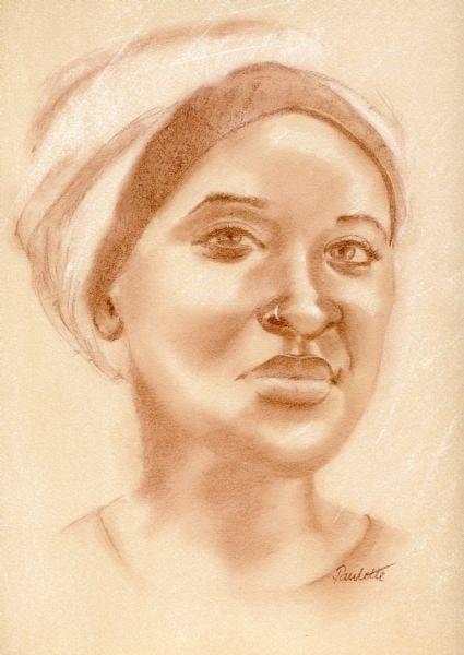 Lady with a headscarf