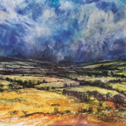 Sudden storm on its way. High energy to be quickly captured...finished in the studio with cloths drying!