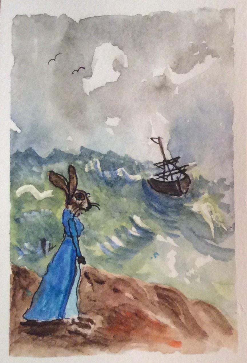 Shakesperean Hares 4. 'Miranda'