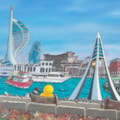 Eb & Flo 'At The Waterfront'  Acrylic on Canvas