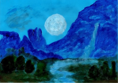Fantasy - blue landscape