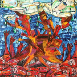 Tree of life oil painting Bogomolnik