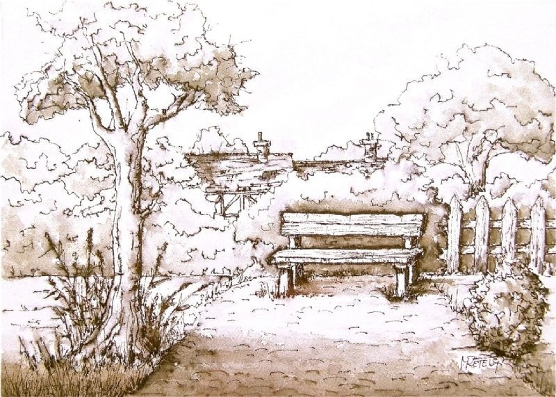 The bench - no coffee