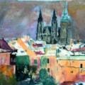 Snowy Prague