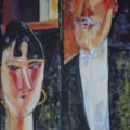 After Modigliani - Bride and Groom (practising techniques)