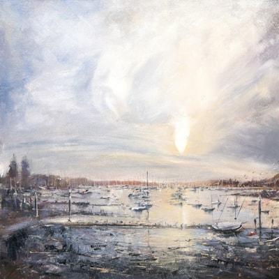 Bosham Quay, Oil on board