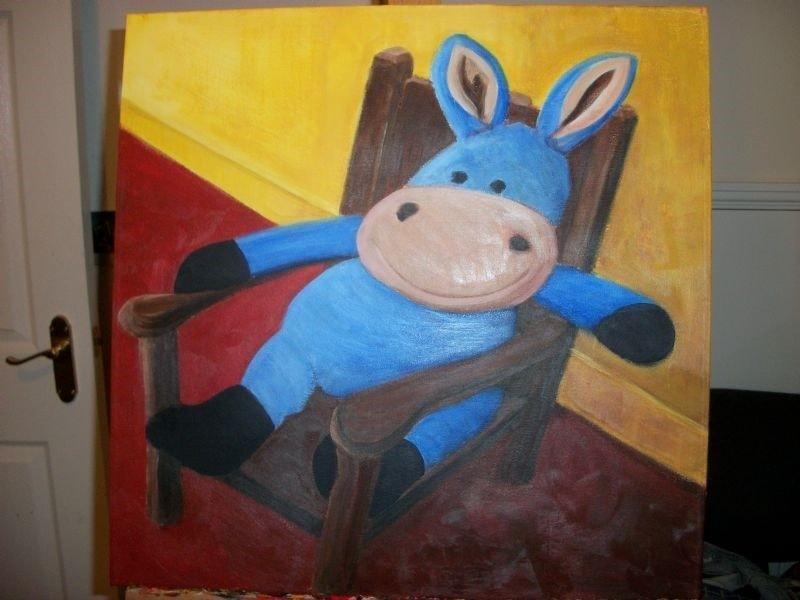 donkey toy portrait
