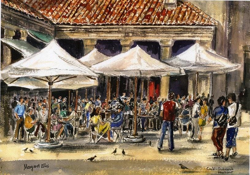 Cafe, Dubrovnik Harbour