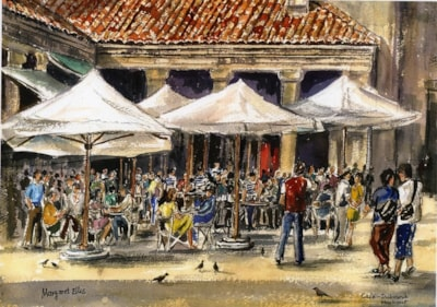 Cafe, Dubrovnik Harbour