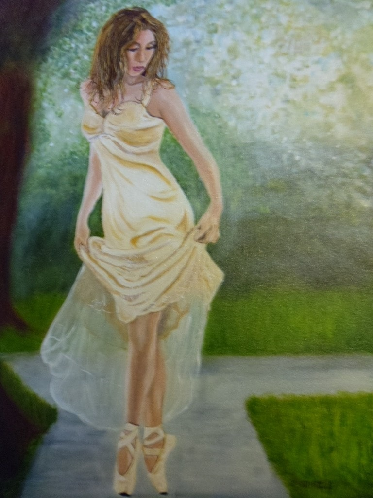 Dancer in a wooded glade