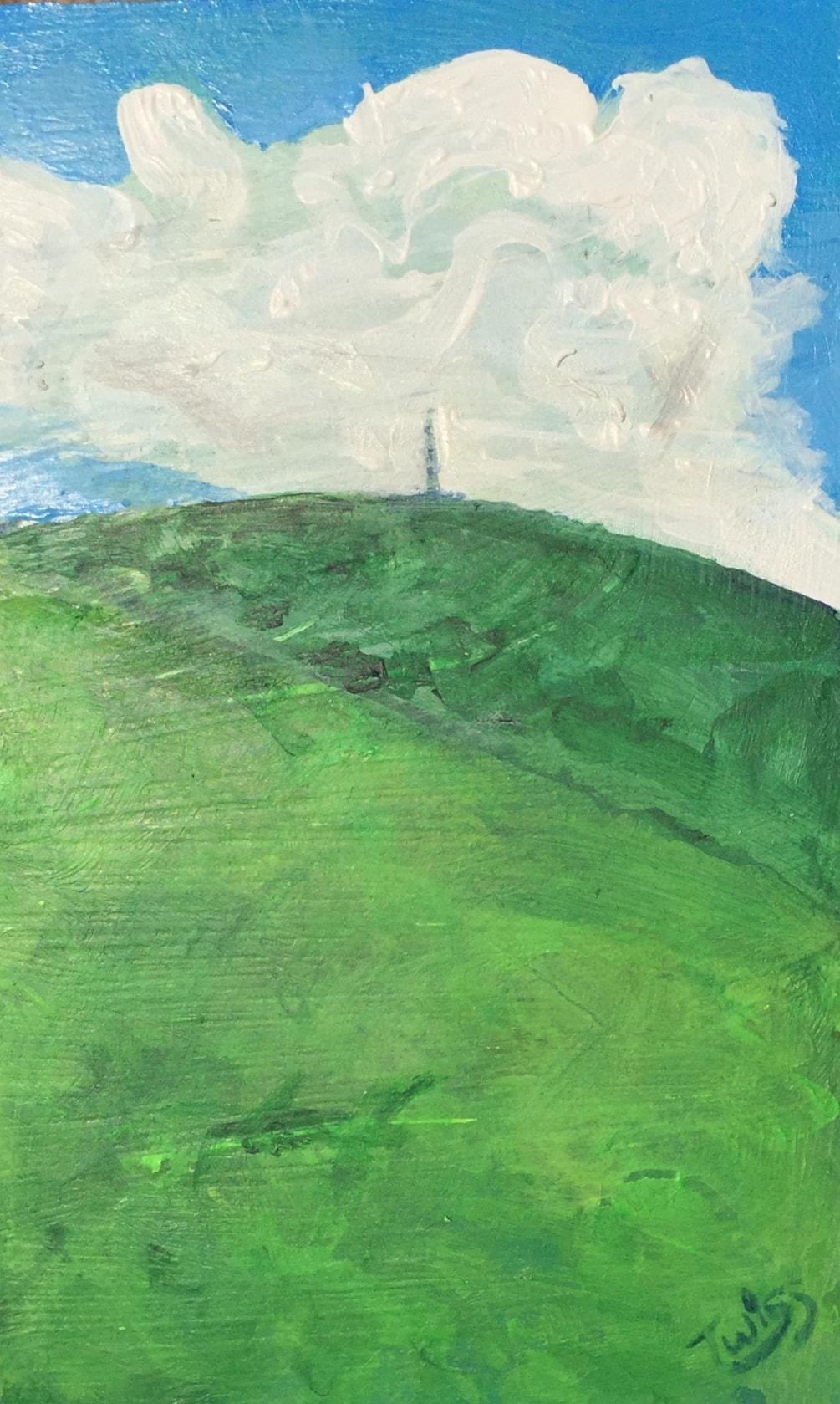 Sutton Common BT mast Croker Hill from the Morridge