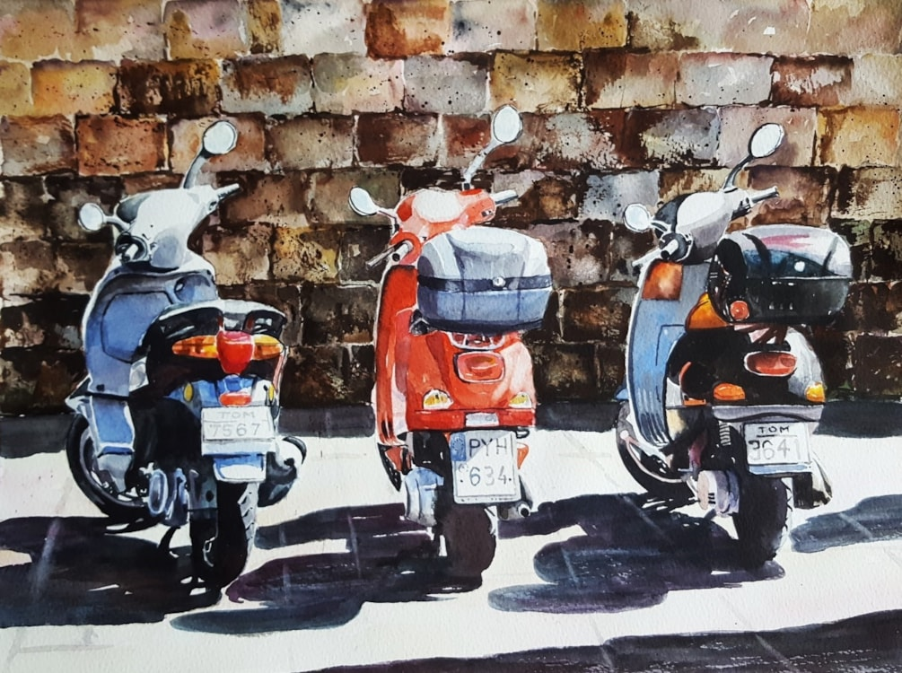 Scooters in Rhodes