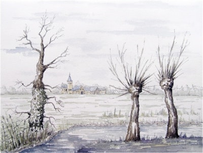 Winter in the Polders of Flanders