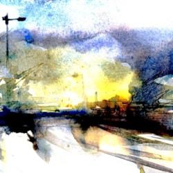Sharston Industrial Estate Dusk