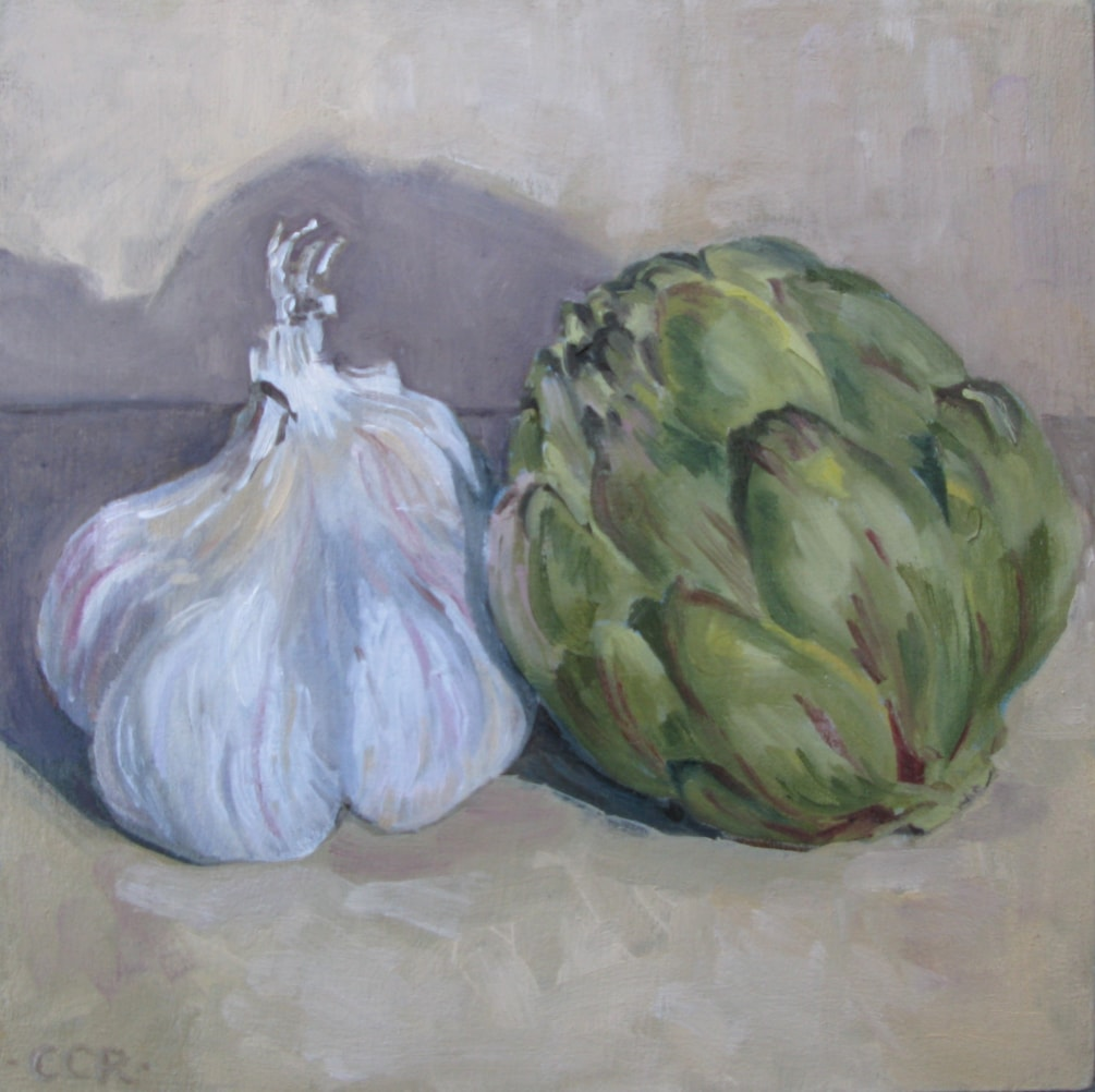 Little Spanish artichoke and garlic