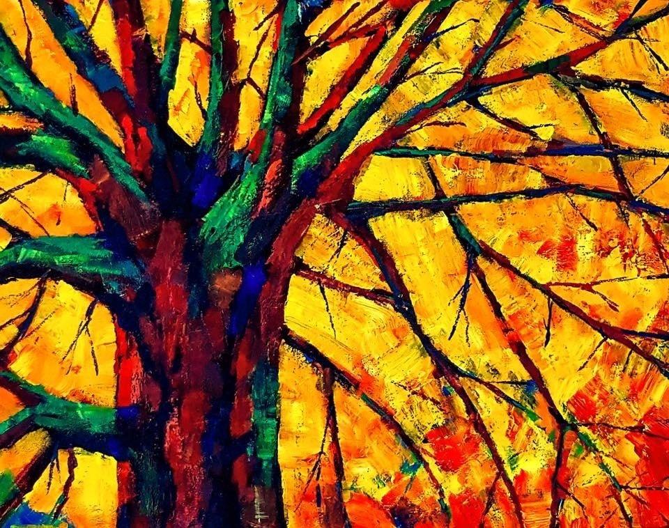 Woodland scene in Autumn