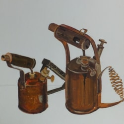 Old blow lamps