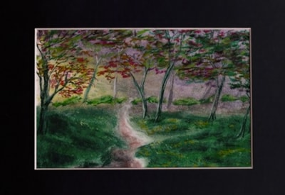 Light in the Forest - Pastel