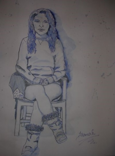 Study in blue- Hannah