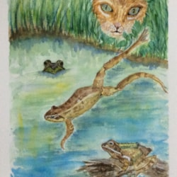 Cat among the Frogs