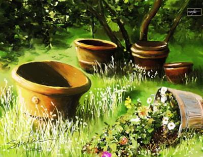 Urns & Spilled Flowers