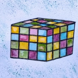 The old Rubik cube. Lol