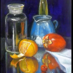 Bottles, Glass and Fruit 2015