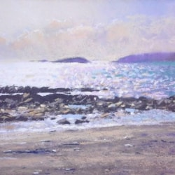 Looe Island from Seaton at low tide