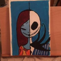 skeleton Jack and Sally