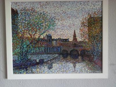 pulteney bridge bath. dappled light oil painting SOLD