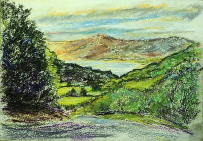 An Early En Plein Air Pastel ( Conway Valley Wales)