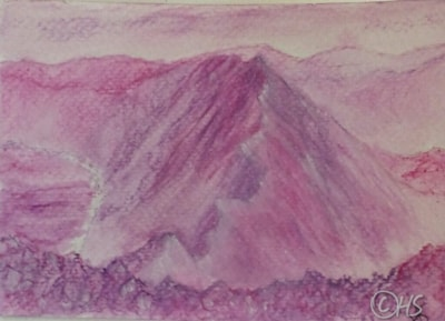 """Striding edge """"gone to card2kendal charity flood appeal"""""""