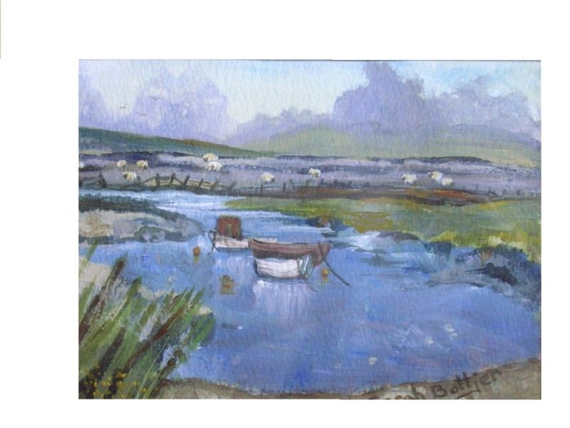 Sheep by the waters' edge