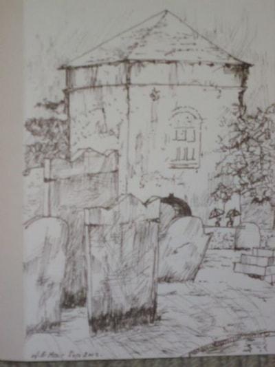 Portchester castle Landgate:rain