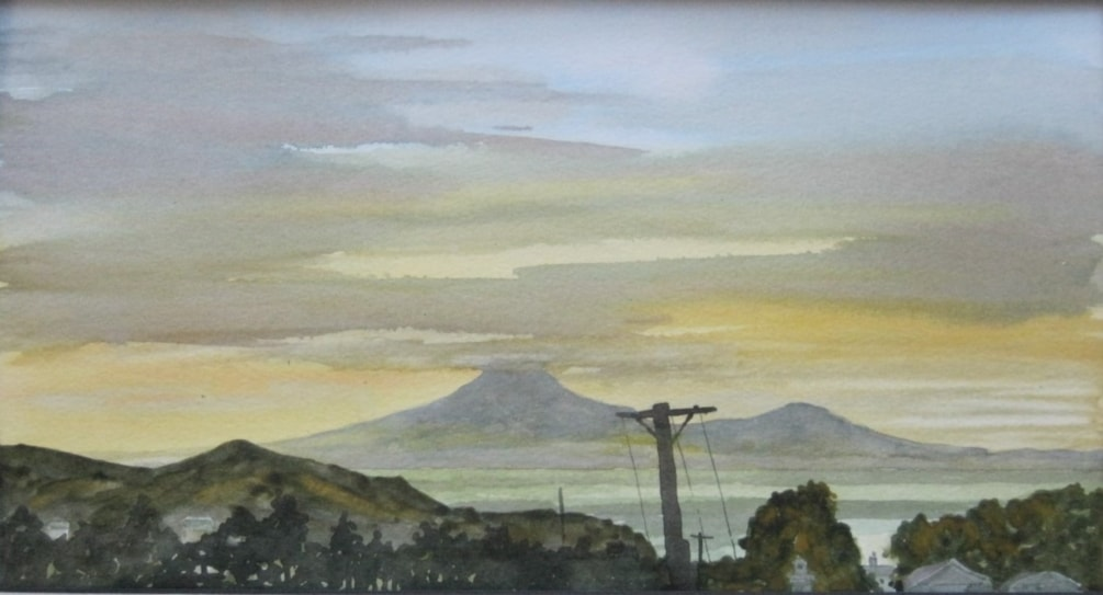 """ Mokau moment""  in watercolour"