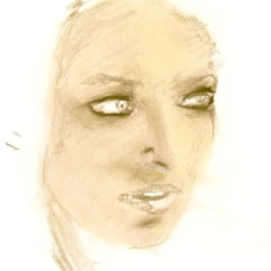 study of woman's face