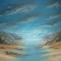 the estuary low tide